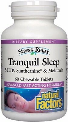 - Natural Factors Stress-Relax Tranquil Sleep  60 Chewable Tablets