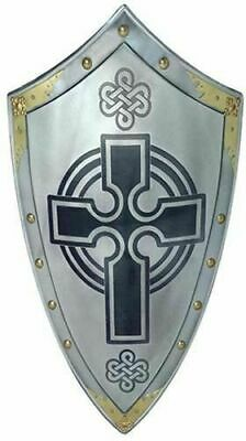 Hand Forged Viking Designer STEEL SHIELD Medieval Battle Armor Sca/larp Sheild - Spartan Shield Design