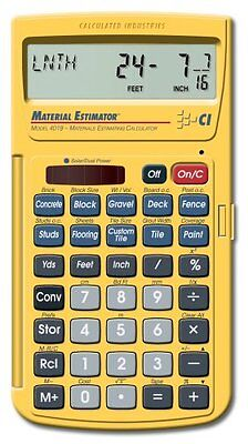 Calculated Industries Calculator Yards Feet Inches Meters Materials Estimating