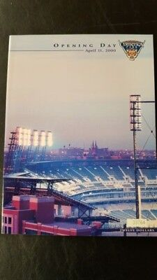 DETROIT TIGERS APRIL 11, 2000 OPENING DAY INAUGURAL PROGRAM EMBOSSED AND NUMBER