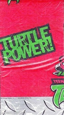 TEENAGE MUTANT NINJA TURTLES PAPER TABLE COVER ~ Birthday Party Supplies Cloth