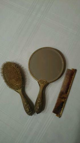 Antique Comb And Brush Set Ebay
