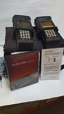 Sunrise Telecom Sunset Xdsl Tester 2 Pack - Great Condition Pre-owned