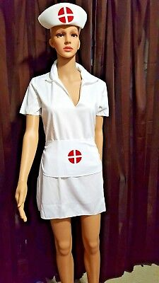 Wholesale Lot of 5 Cosplay Nurse's Costume 3 Piece White Halloween One Size NEW