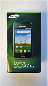 SAMSUNG GALAXY ACE S5830 WHITE/BLACK SIM FREE UNLOCKED IN A BOX WITH ACCESSORIES