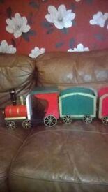 Bombay company wooden Christmas train