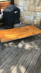 Teak and stainless steel coffee table | Coffee Tables ...