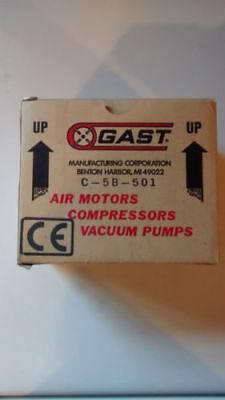 Gast C-5b-501 220240 Vac 50hz 0.07a Air Compressor Pump New