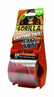 Gorilla Packing Tape Tough Wide With Dispenser 2.83 X 35 Yd. Clear