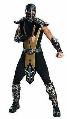 Rubies Adult Mortal Kombat Scorpion Halloween Cosplay Video Game Costume 880286 - Scorpion Halloween