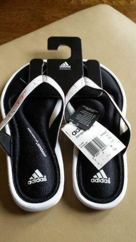 Awesome ADIDAS Womens Shoes Size 11 FIT FOAM Memory Flip Flops Thong Sandals