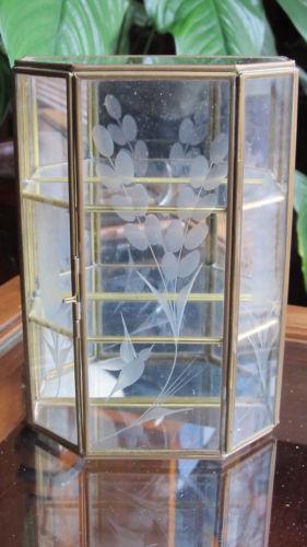Brass Glass Curio Decorative Collectibles Ebay