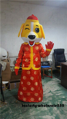 New year Dog Mascot Costume Adults Fancy Dress Christmas party game outfits hot