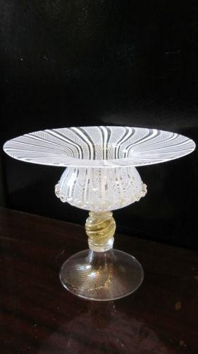 Vintage Pedestal Crystal Bowl Ebay