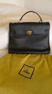 Fendi Black Leather Handbag 865c2020be1b6