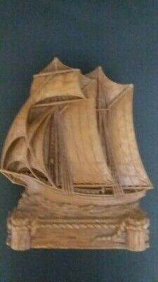 Vintage Ship Card Holder 6x6 Inches