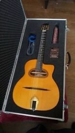 Altimira Thinline Gypsy Jazz Guitar - Indian Rosewood Back - Flight Case and Pickup Included