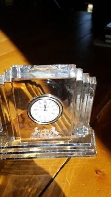 WATERFORD CRYSTAL IRELAND METROPOLITAN MANTLE CLOCK
