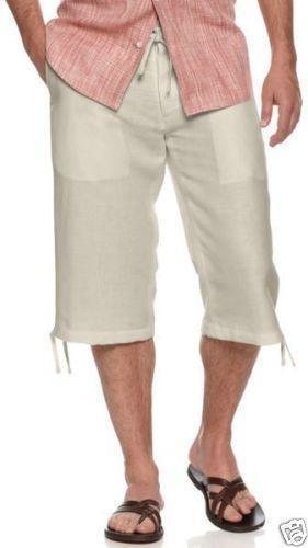 Mens Linen Shorts 36 Ebay