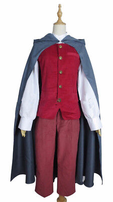 The Hobbit frodo cos Outfit Suit Cosplay Costume Full Set film The Lord of the :