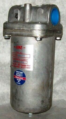 """Lenz 1-1/4"""" Hydraulic Return Line Filter Dh-1250-100-pr-15"""