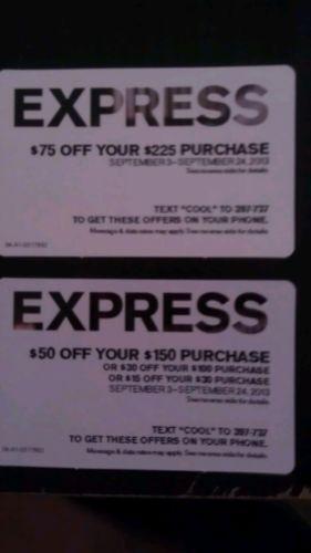 Express coupon code 75 off 200