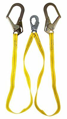 Guardian Fall Protection 01271 6-foot Double Leg Non-shock Absorbing Lanyard ...