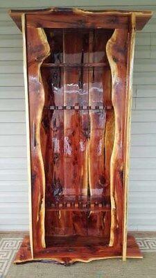Handcrafted Cedar Gun Cabinet holds 10 guns,