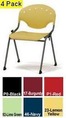 4 New Ofm 305 Rico Training Group Stacking Stack Stackable Chair Multiple Colors