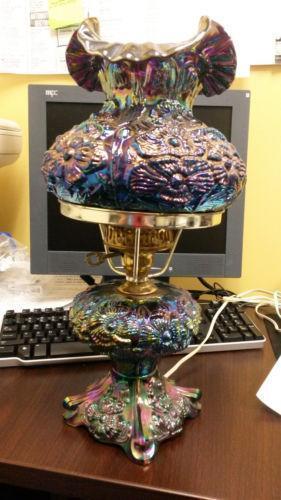 Carnival Glass Lamp Ebay