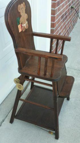 Vintage Childs High Chair Ebay