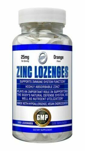 Chewable Hi Tech Zinc Lozenges 25mg - 50mg Orange Flavor IMMUNITY SUPPORT FLU