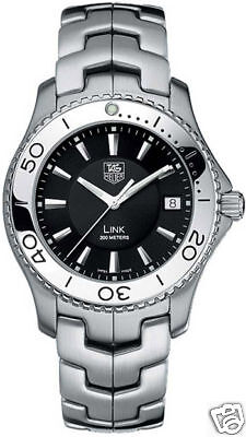 GIFT IDEA TAG HEUER LINK WJ1110.BA0570 SWISS STEEL MEN'S BLACK ORIGINAL (Gift Tag Ideas)