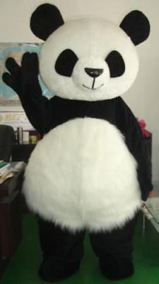 Panda Bear Mascot Costume Halloween Cosplay Suits Fancy Party Dress Adults Size](Adult Mascot)