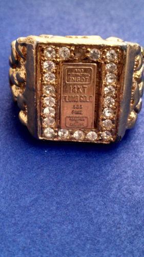 Gold Nugget Ring Ebay