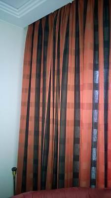 LW21 Moderne Hotelzimmer Hotel Verdunkler Vorhang Gardine rot schwarz Store