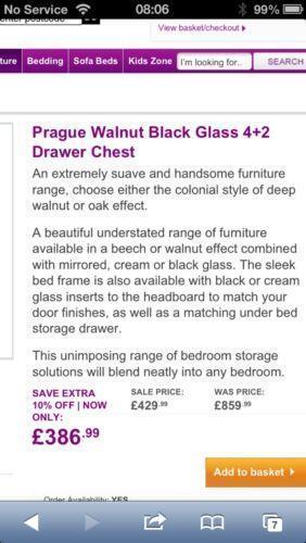 black glass chest of drawers ebay