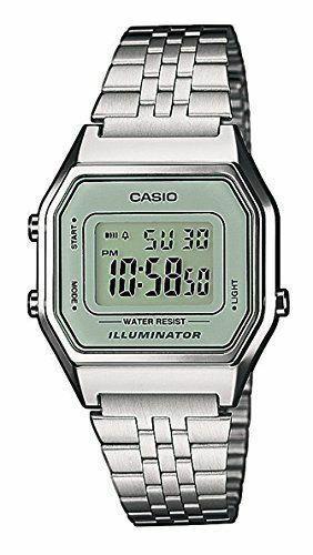 Casio Uhr LA680WEA-7EF Damen Armbanduhr Digitaluhr Silber-farben Uhr Watch Neu