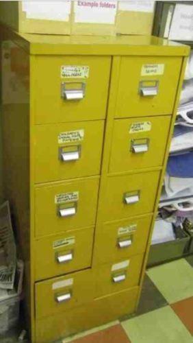 Vintage Metal Filing Cabinet Ebay