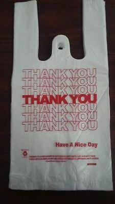 New 1000 Ct Plastic Shopping Bags T-shirt Type Grocery White Small Size Bags...