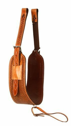 western leather back chinch with off billets straps