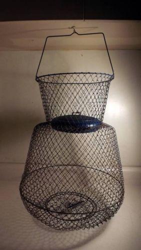Vintage wire fish basket ebay for Fish wire basket