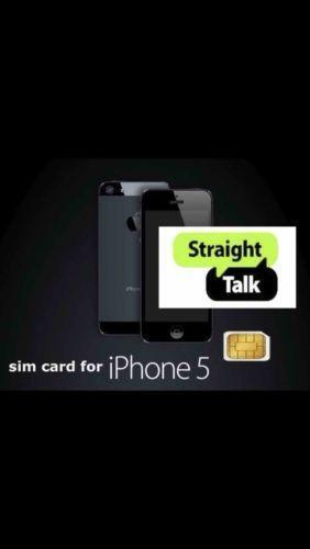 sim cards for iphone 5 talk sim card iphone 5 ebay 2783