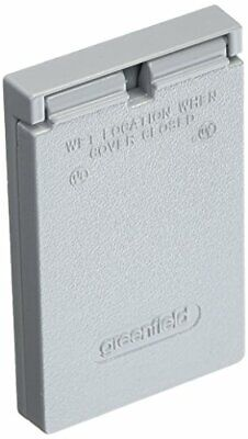 Greenfield Cgfivps Series Weatherproof Electrical Outlet Box Cover Gray