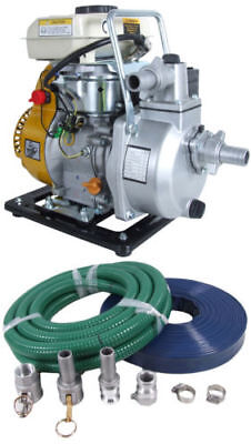 Flood pump and hose, complete kit, just add oil and petrol 4 stroke