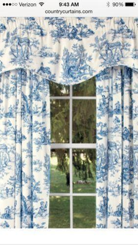 Blue Toile Home Amp Garden Ebay