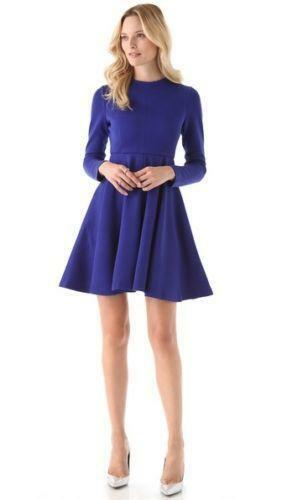 Milly Woman Off-the-shoulder Cady Mini Dress Cobalt Blue Size 10 Milly