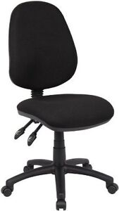High Back Operator Typist Swivel Computer Task Chair in Black