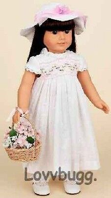 "Lovvbugg Eyelet Dress FULL SET Doll Clothes for 18"" American Girl Doll Clothes"