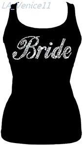 Brand-New-RHINESTONE-BRIDE-JUNIOR-TANK-TOP-SHIRT-Wedding-Gift-S-3XL